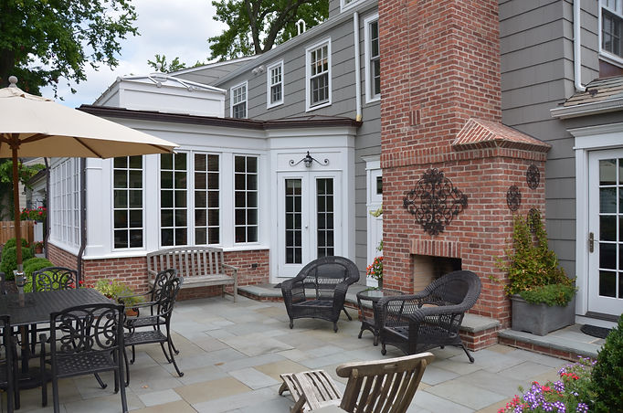 Colonial Addition and Alterations Patio Westfield New Jersey Residential Commercial Architect