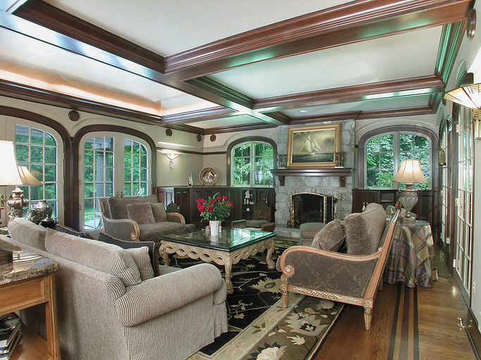 Tudor, Tudor Revival, Addition, Alteration, Coffered Ceiling, Westfield, New Jersey, Architect