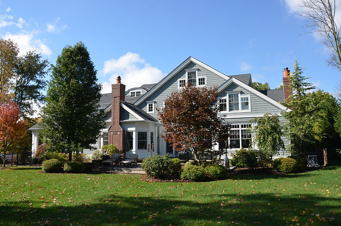 Shingle Style Rear Elevation Westfield New Jersey Residential Commercial Architect