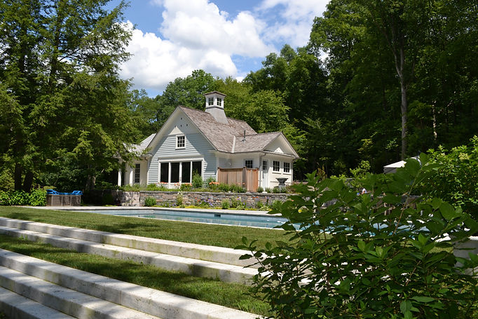 Pool House with Exterior Shower Westfield New Jersey Residential Commercial Architect, Vincentsen Blasi