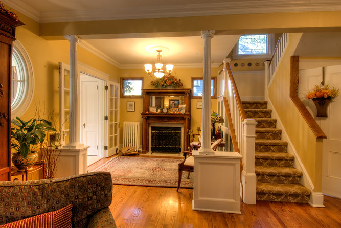 Colonial, Colonial Revival, Addition, Alteration, Historic Preservation, Front Entry, Westfield, New Jersey, Architect
