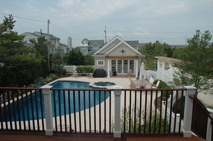 Contemporary, Addition, Alteration, Vacation Home, Pool House, Pergola, Inground Pool, Balcony, Westfield, New Jersey, Architect