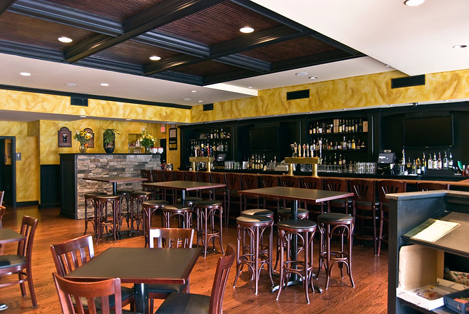 Restaurant, Pub, Alteration, Addition, Table Seating, Bar Seating, Coffered Ceiling, Westfield, New Jersey, Architect