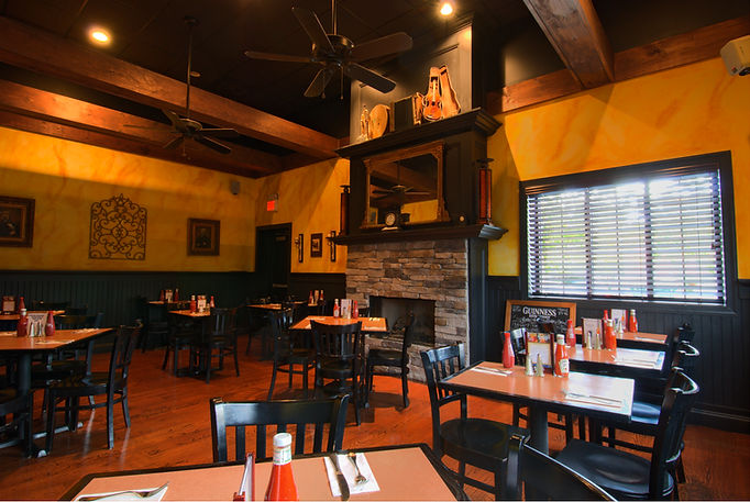 Restaurant, Pub, Alteration, Addition, Table Seating, Exposed Beams, Fireplace, Westfield, New Jersey, Architect