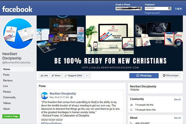 NewStart Discipleship Facebook Group