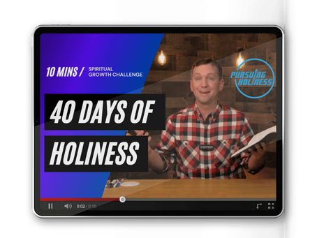 Why I'm writing about holiness