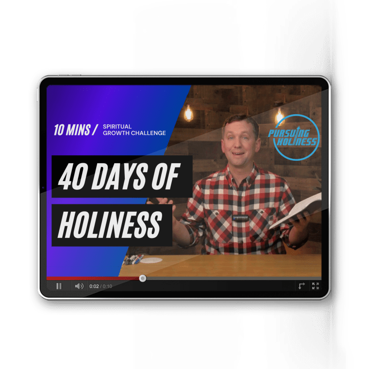 40 Days of teaching videos on holiness def at www.40daysofholiness.com