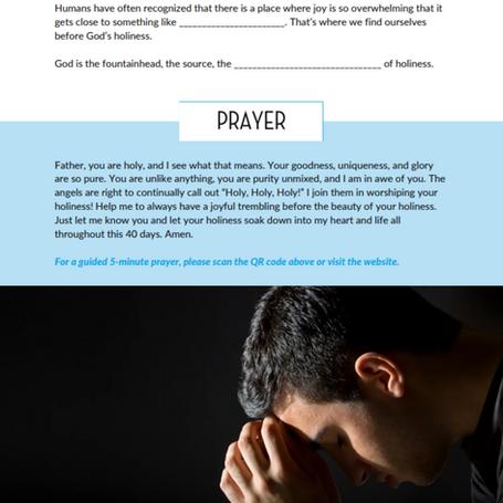 Prayers for Seeking Holiness