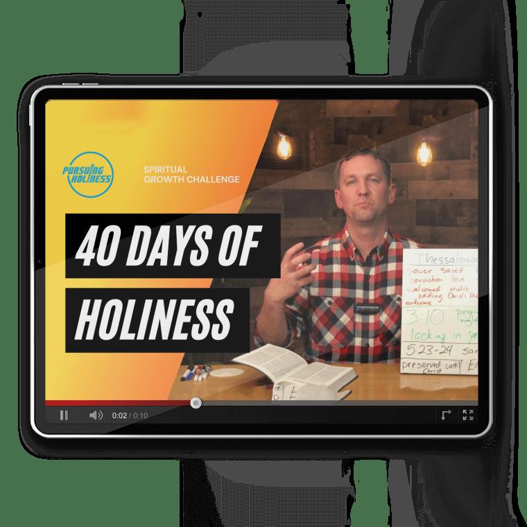 Darrell Stetler II video teaching on holiness