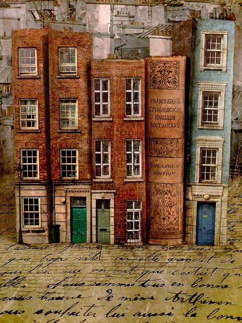 Rue du Livre (Book Street). Limited Edition print.