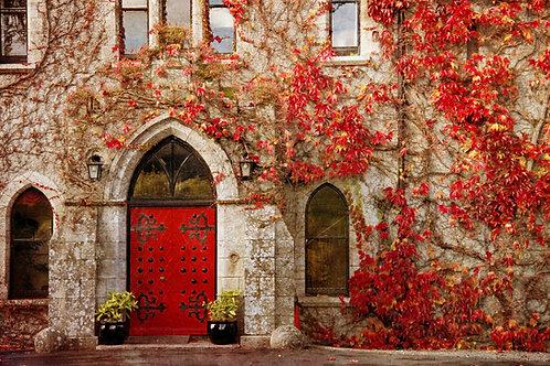 Red door.
