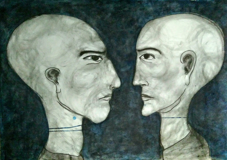 3 Shayma Aziz Reflection 100x70cm charco