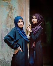 Rania Matar, Wafa'a and Samira, Bourj El Barajneh Palestinian Refugee Camp, Beirut, Lebanon, 2016 Archival pigment prints mounted on Dibond 61x50cm