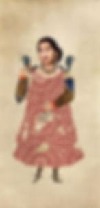 Nermine Hammam, Oum Kalthoum 2011Digital image on Hahnemuhle paper 187x100cm