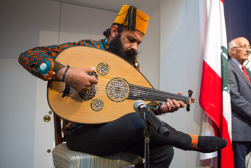 Joseph Tawadros performing at our Kahlil Gibran exhibition, Sotheby's, London