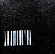 Mayasa Al Sowaidi, BarCode, 2017 Acrylic and oil on canvas