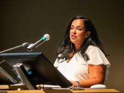 Sheikha Lulwa Al Khalifa speaking at