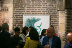 Guests viewing the exhibition