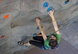 Hayley climbs Wilmington Rock Gym