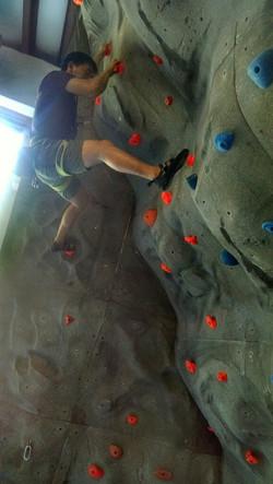 Paul Climbing Wilmington Rock Gym