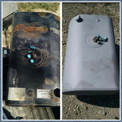 Before and after blasting