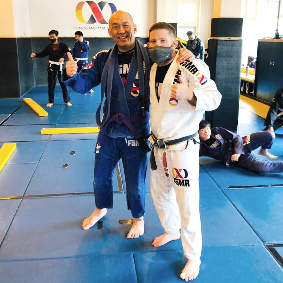 fama brazilian jiu jitsu bjj purple belt promotion