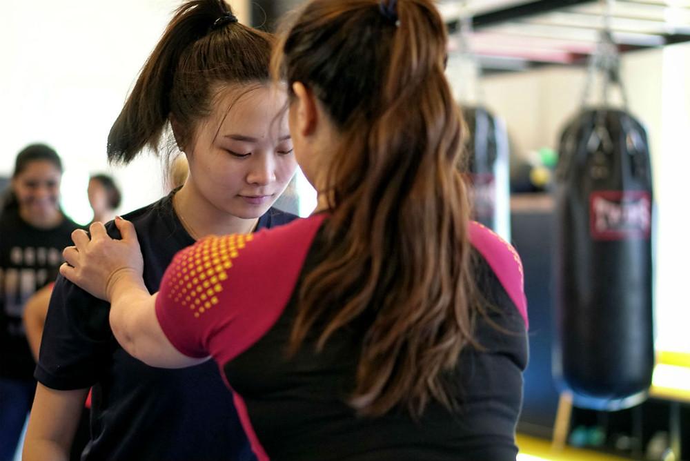 fama singapore womens ladies self defence martial arts seminar with kirstie gannaway