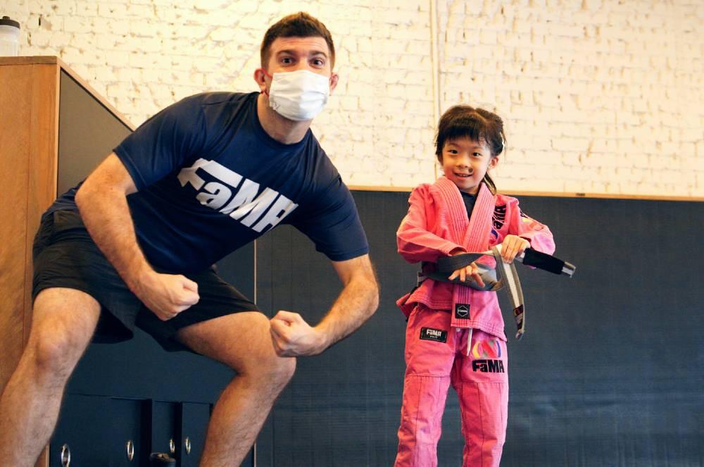 fama singapore kids martial art bjj brazilian jiu jitsu assistant instructor stephen procida