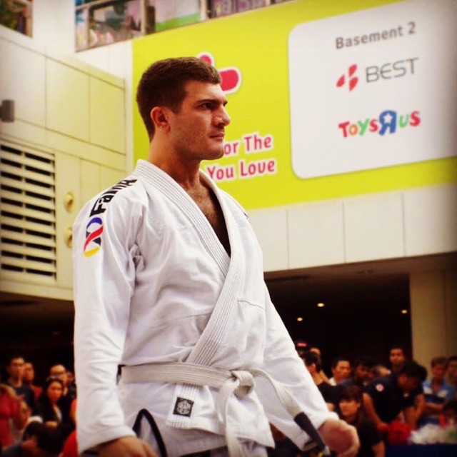 fama singapore bjj assistant instructor steve stephen as a white belt