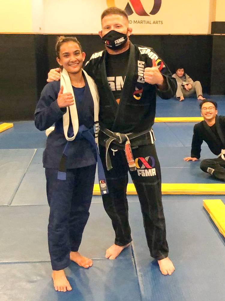 fama singapore ladies womans bjj brazilian jiu jitsu belt promotion