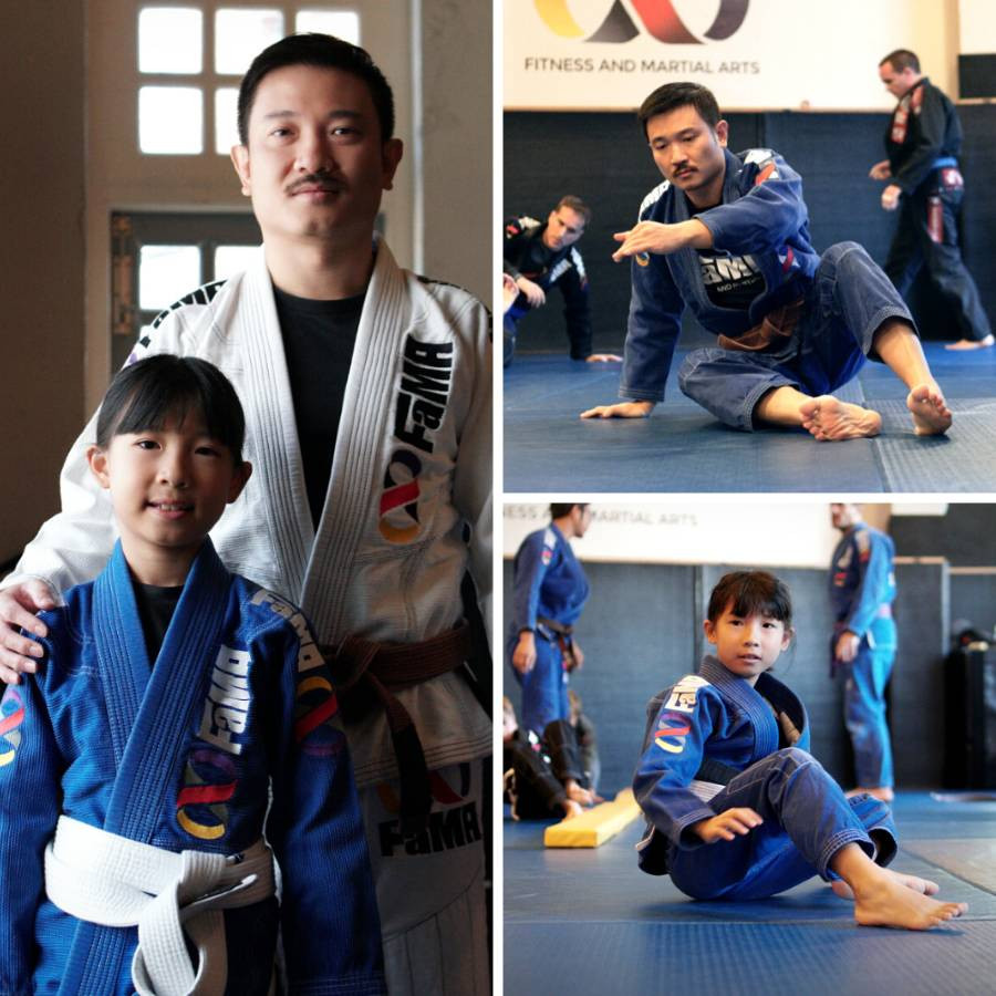 fama singapore daddy daughter martial arts bjj brazilian jiu jitsu