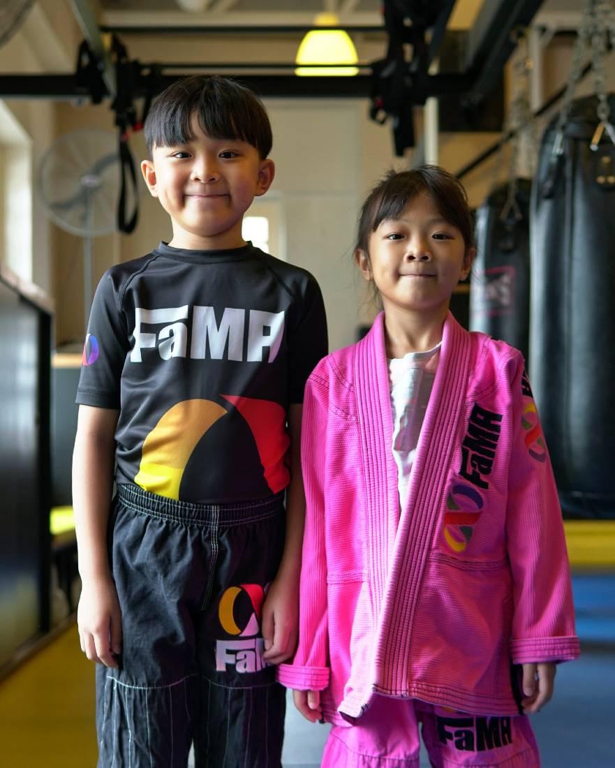 fama singapore kids martial arts brother and sister brazilian jiu jitsu bjj self defence