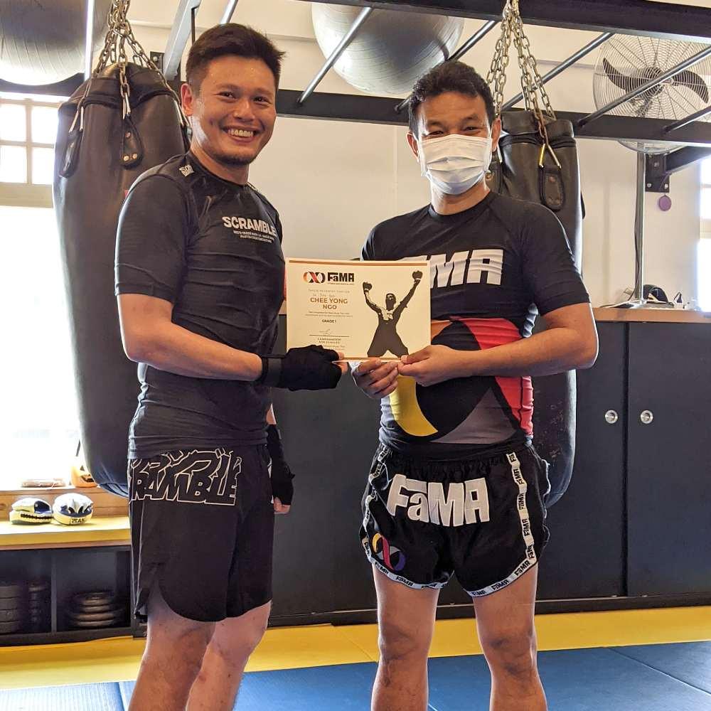fama singapore muay thai upgrade with kru yo lamnamoon