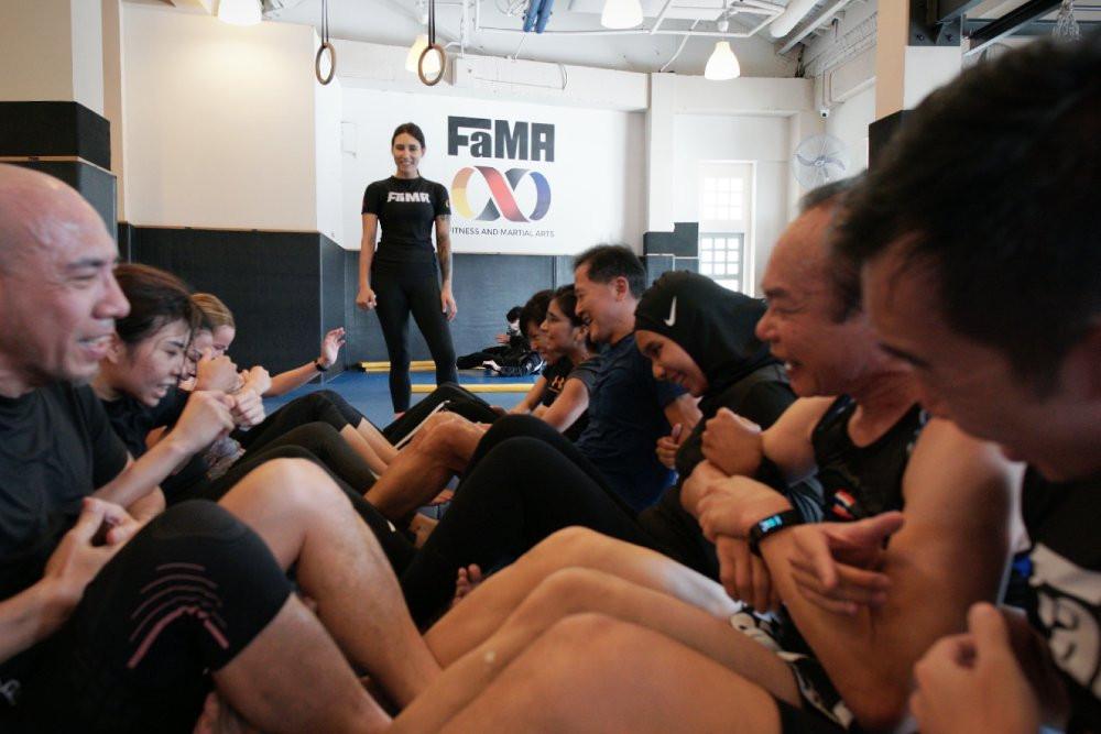 fama singapore fitness class with coach kirstie gannaway