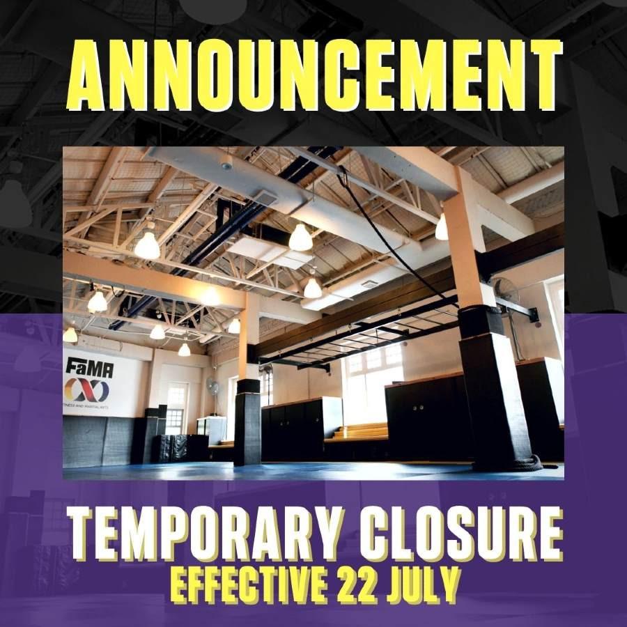 fama singapore temporary closure july 2021
