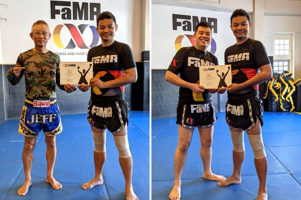 fama singapore muay thai kickboxing grade promotion