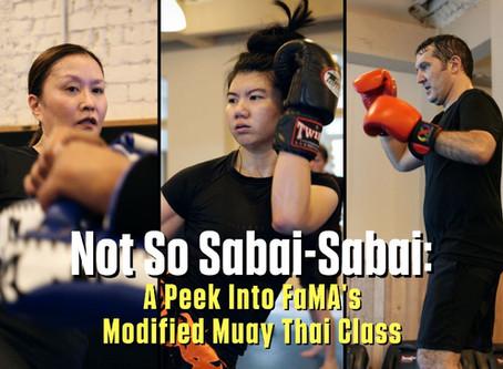 Not So Sabai-Sabai: A Peek Into FaMA's Modified Muay Thai Class