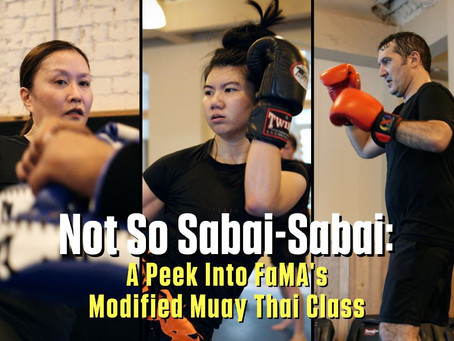 Not So Sabai-Sabai: A Peek Into FaMA's Modified Muay Thai Class