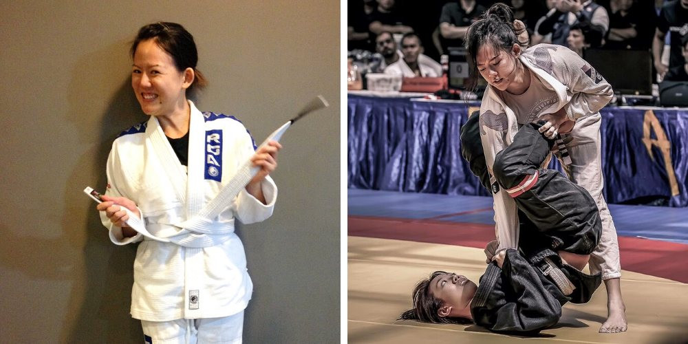 fama singapore assistant instructor sue ann white belt