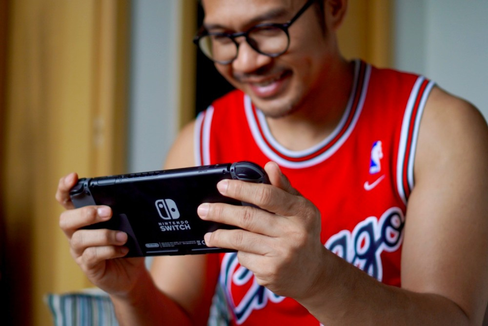 fama singapore circuit breaker assistant instructor ronny playing videogames nintendo