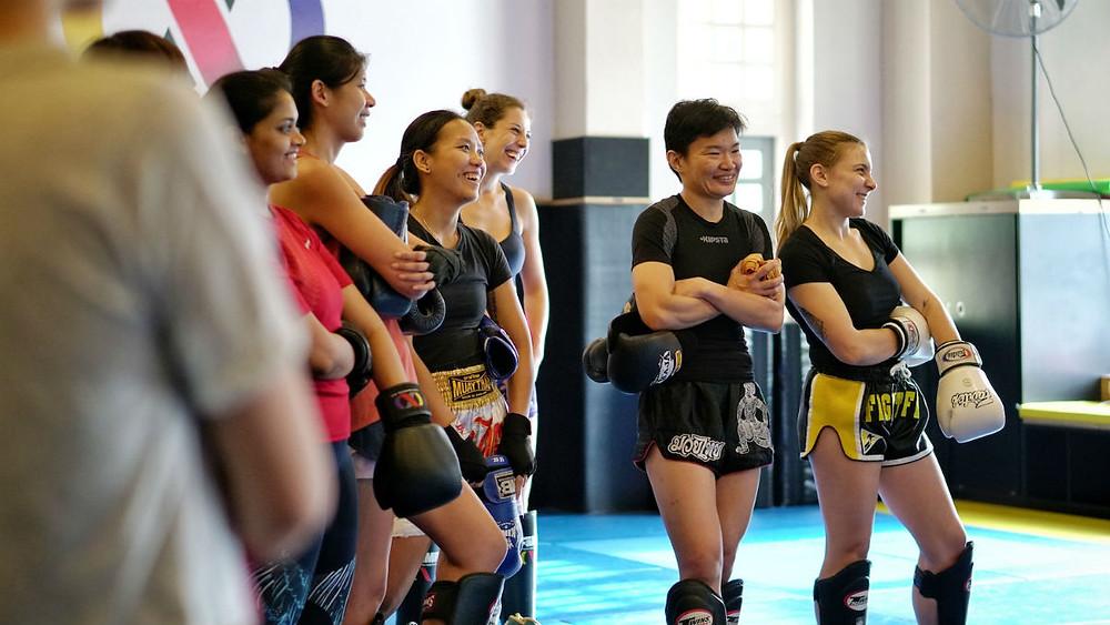 fama singapore ladies muay thai kickboxing thaiboxing seminar fitness