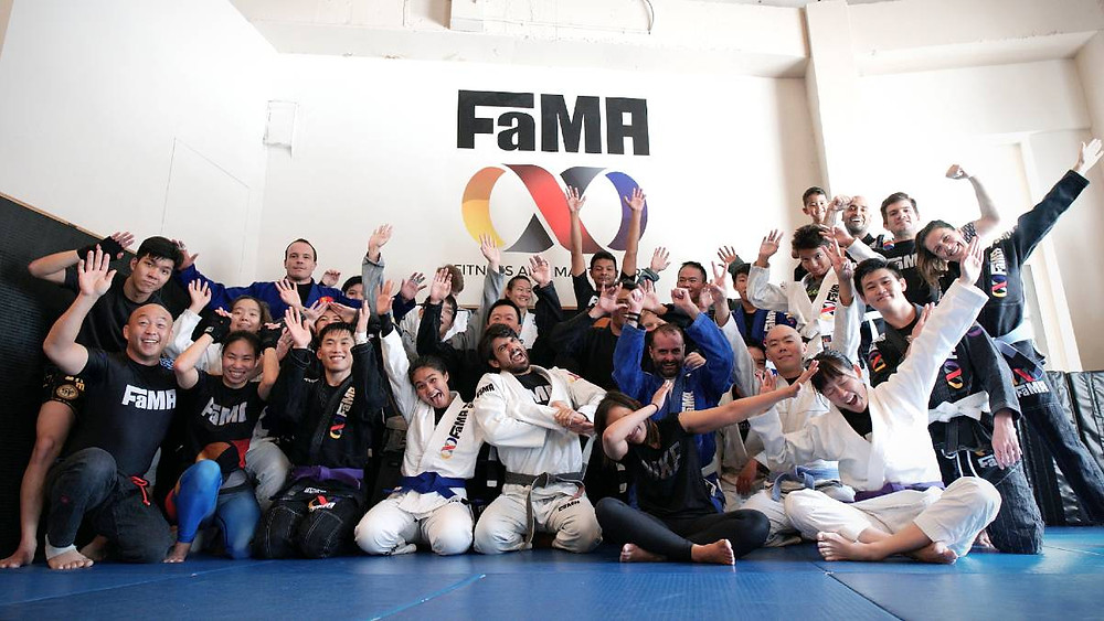 fama singapore martial arts group class picture