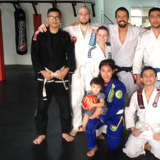 fama singapore bjj assistant instructor ronny as a white belt