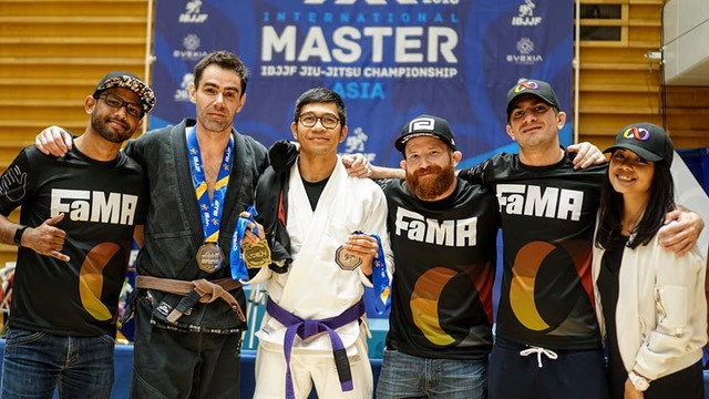 fama singapore brazilian jiu jitsu bjj assistant instructor ronny in japan ibjjf masters international