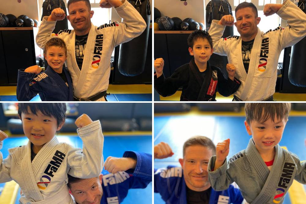 fama singapore kids bjj brazilian jiu jitsu stripes promotion