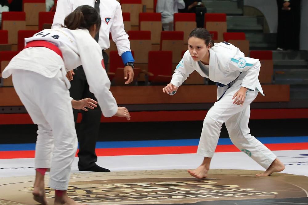 fama singapore youth brazilian jiu jitsu bjj kinaree adkins at abu dhabi jiu jitsu international u18 world championship