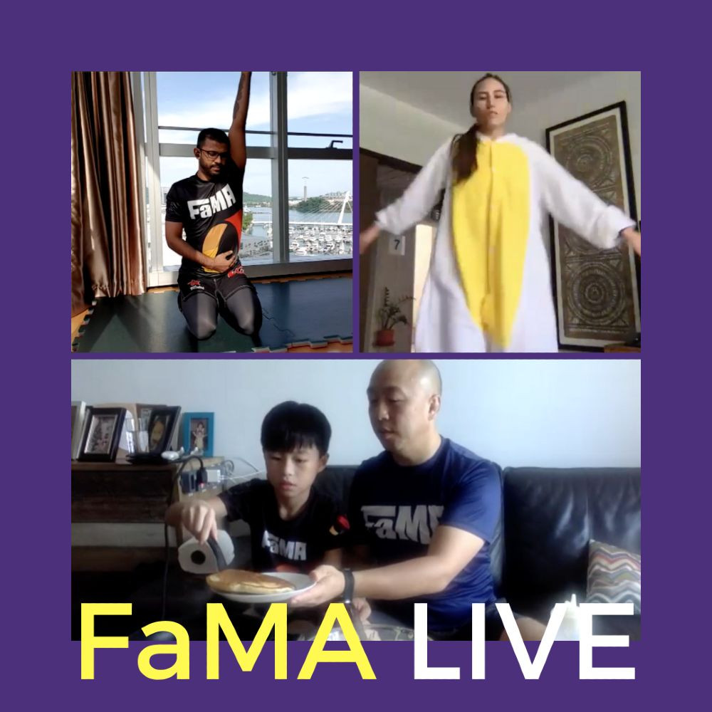 fama singapore live classes kirstie nevash tim costume dressup mobility pancake cooking