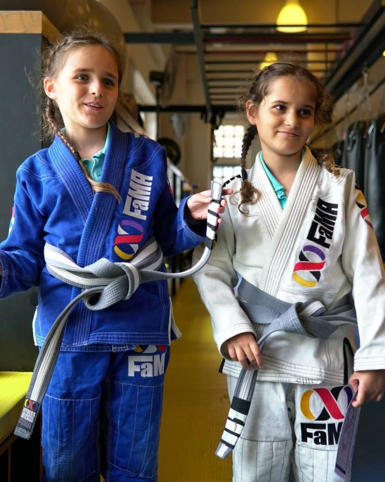 fama singapore kids martial arts girls sisters brazilian jiu jitsu bjj self defence