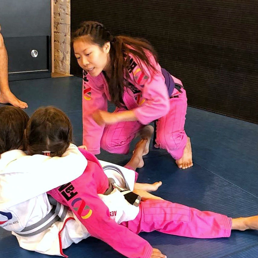 candy heng fama singapore fitness and martial arts bjj brazilian jiu-jitsu kids girls ladies pink gi