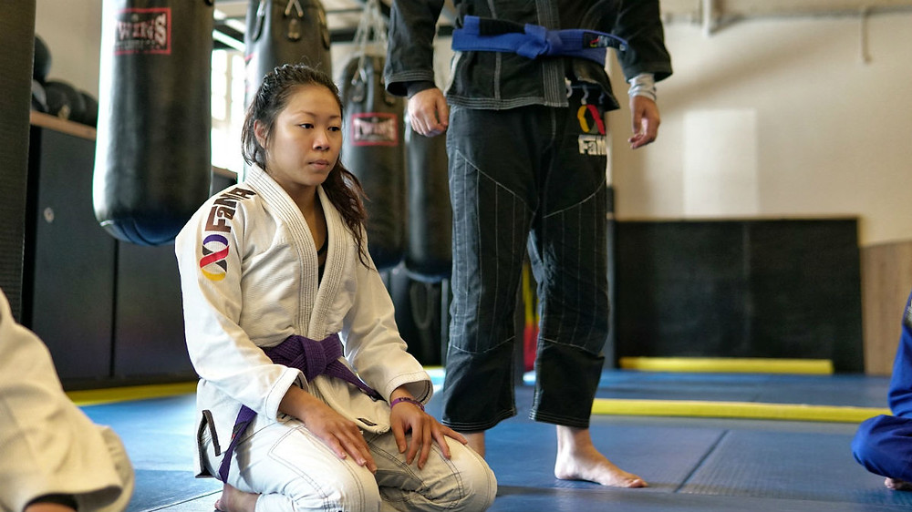 candy heng fama singapore fitness and martial arts bjj brazilian jiu-jitsu purple belt ladies